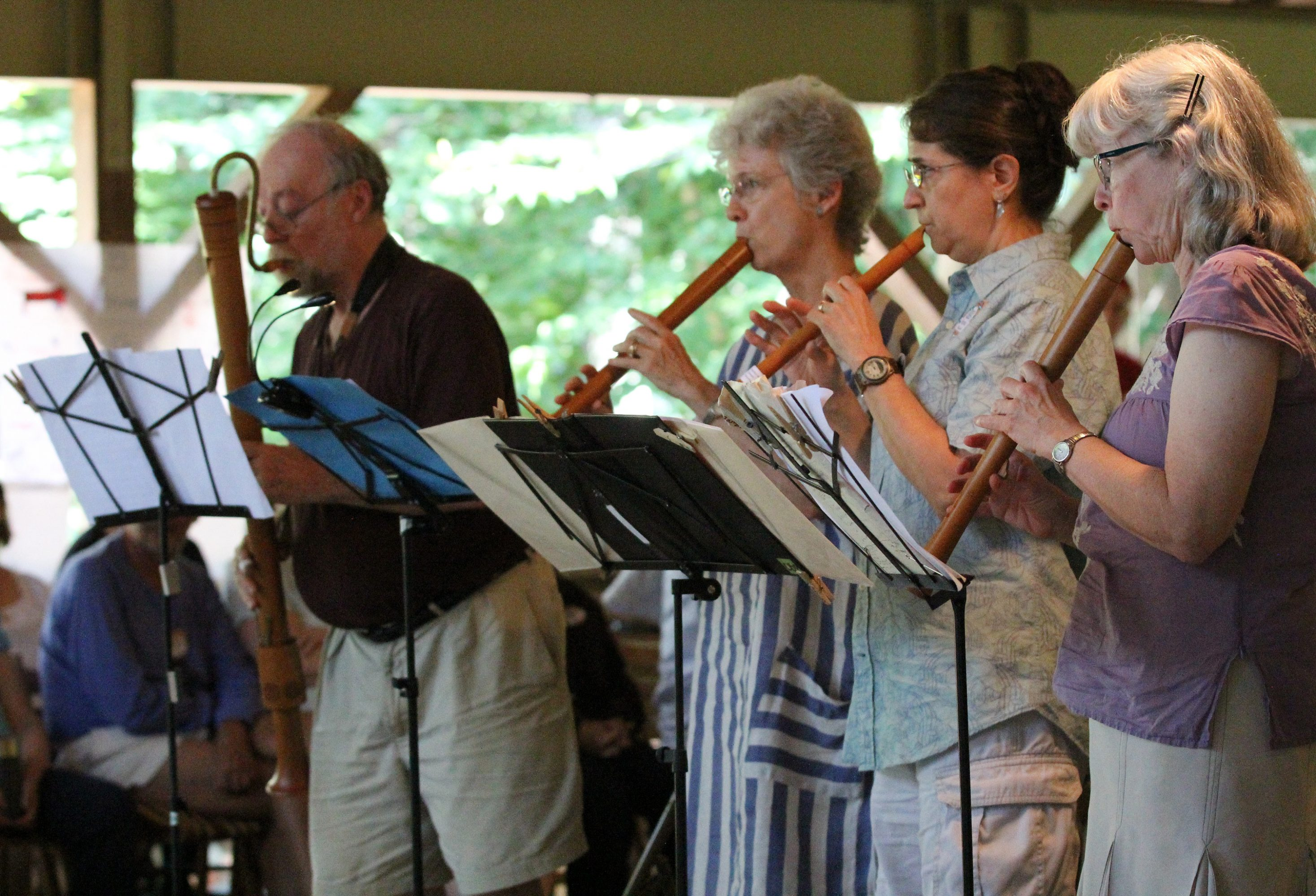Recorders at Early Music Week at Pinewoods