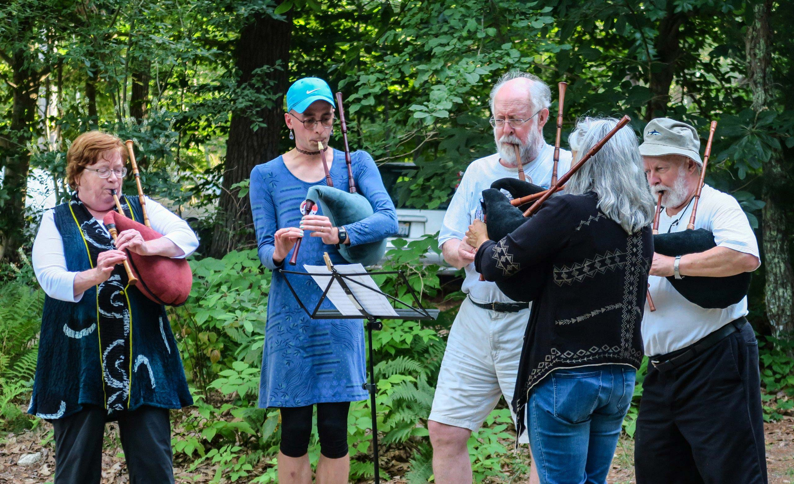 A bagpipe workshop at Early Music Week