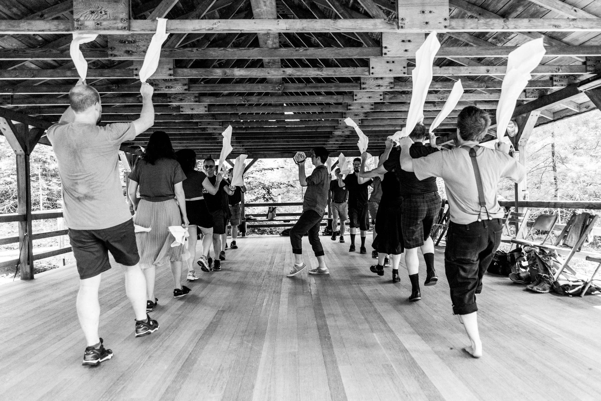 A Cotswold Morris dancing workshop