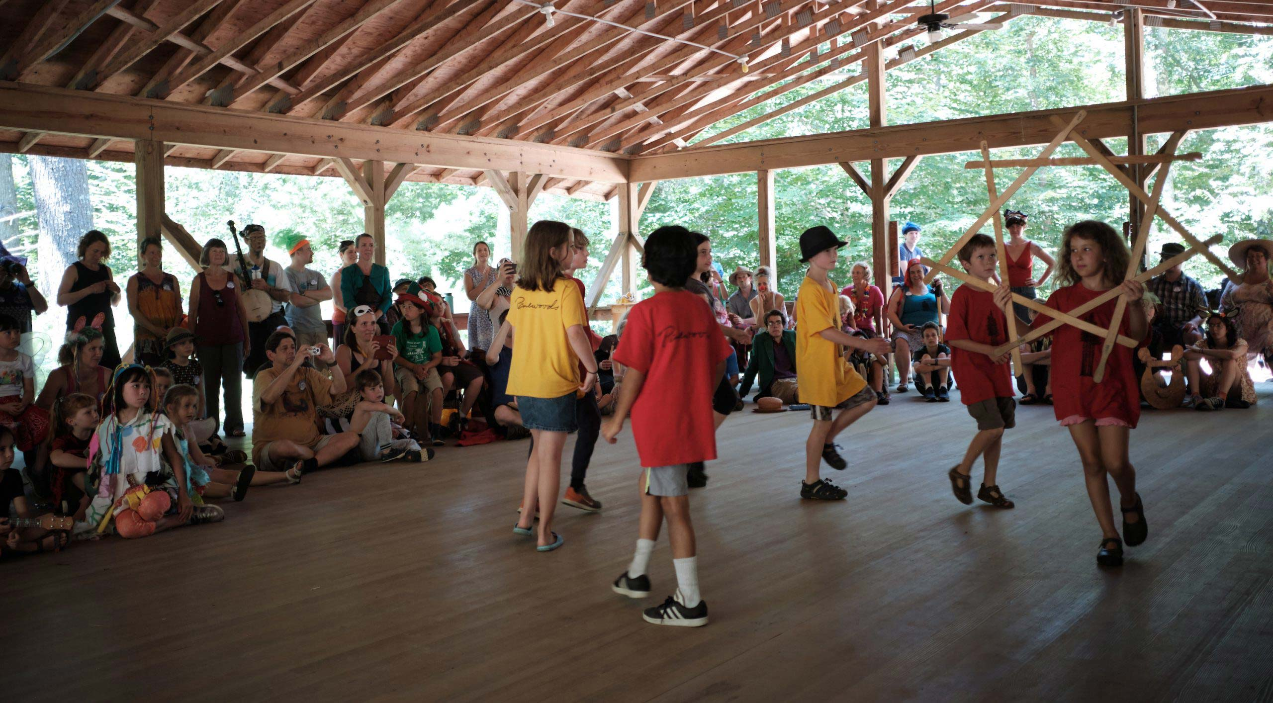 Children performing a longsword dance